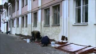 Работы по ремонту фасада  дома(, 2012-10-23T13:02:54.000Z)