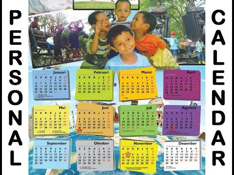 Tutorial: Personal Calendar made Easy | Membuat Kalender Pri