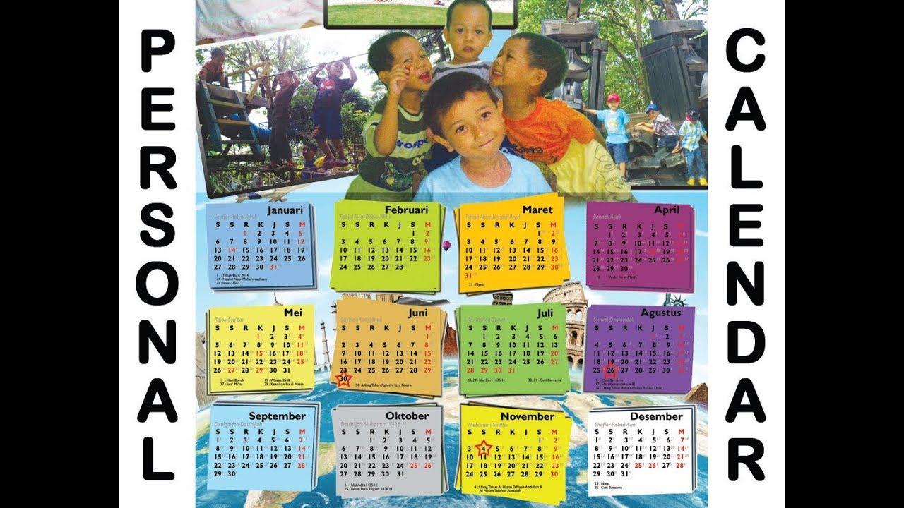 Tutorial: Personal Calendar made Easy | Membuat Kalender