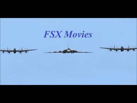 FSX : Vulcan & two Lancasters in Formation