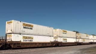BNSF 5190 leads a W/B stack train Afton Oklahoma.