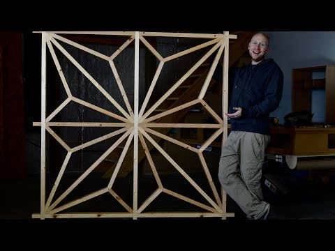 The world's biggest Kumiko panel? Japanese Woodworking and Carpentry