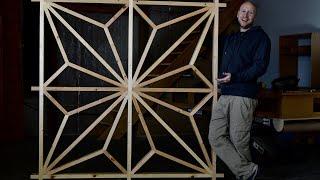 Giant Kumiko, Japanese woodworking