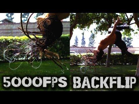 Download Youtube: Wet Dreads + Backflip at 5000FPS (Phantom Camera)