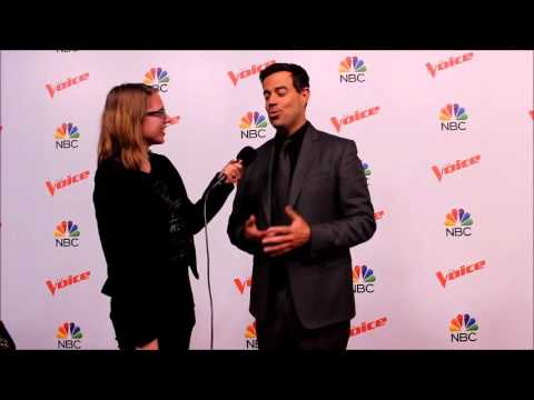 CARSON DALY from NBC'S THE VOICE chats with JULIA DARLING