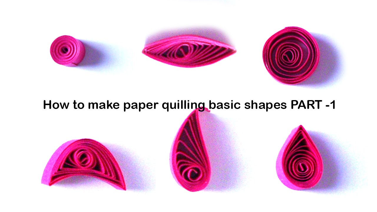 how to make quilling basic shapes - for beginners tutorial Part 1 ... for How To Make Quilling Shapes  300lyp