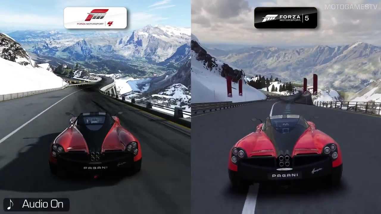Forza Motorsport 4 Vs Forza Motorsport 5 Bernese Alps Early Comparison Youtube