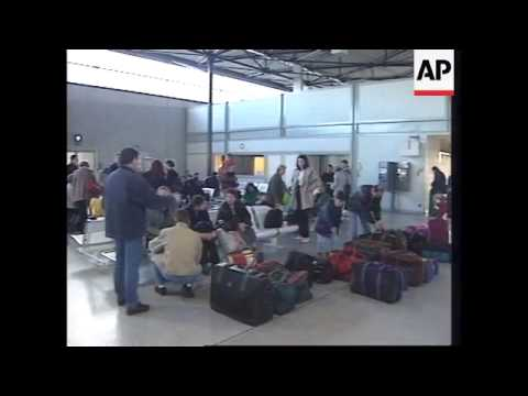 FRANCE: ARRIVAL OF KOSOVAR REFUGEES