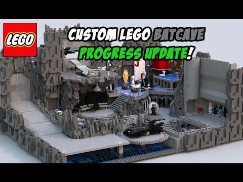 Custom Lego Batcave Progress Update March 2017 Youtube
