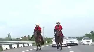 Карачаевская свадьба, кортеж.