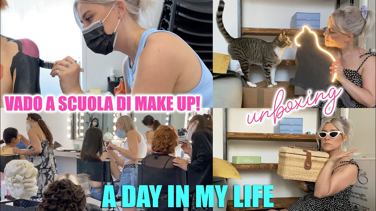 VADO A SCUOLA DI MAKE UP?! + unboxing *a day in my life #5*
