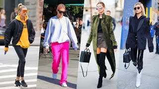 Hailey Baldwin's Hairstyle, Casual Style, Street Style & Outfits   2018