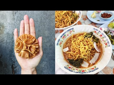 Khao Soi Noodles & Thai Coconut Cookies ● First Day in Chiang Mai, Thailand