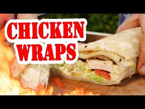 Chicken Wraps - BBQ Grill Rezept Video - Die Grillshow 318a