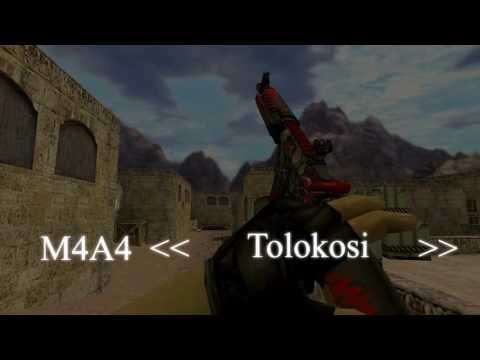 HD CS:GO Skins For CS 1.6 - M4A4 Only