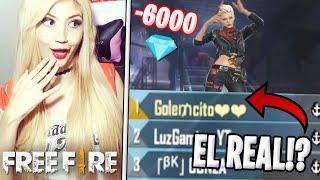 EMPAREJO CON GOLEMCITO GAMES!!?😱 GASTO 6000 DIAMANTES POR NADA!!😭 FREE FIRE