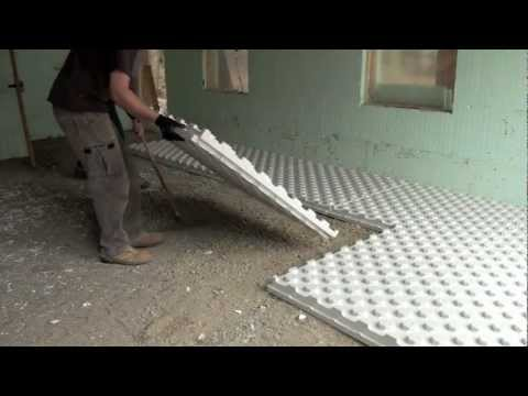 Radiant Heat Insulation Installation Video Youtube