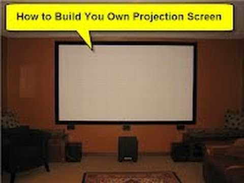 how to build your own projection screen diy movie cinema youtube