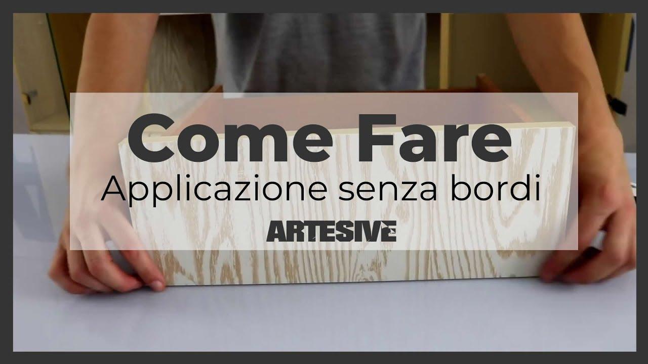 Applicazione facile della pellicola adesiva per mobili solo frontale senza bordi youtube - Carta per coprire mobili ...