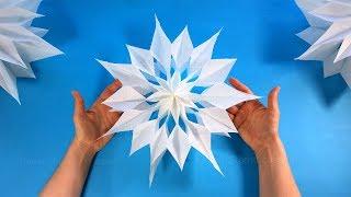 Sterne basteln mit Papier-Butterbrottüten zu Weihnachten. DIY Weihnachtssterne falten Weihnachtsdeko