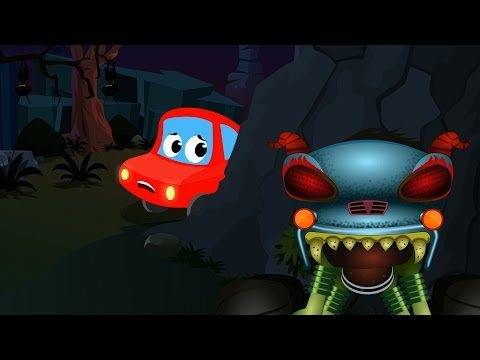 Thumbnail: Little Red Car And The Haunted House Monster Truck | Scary Monster Truck