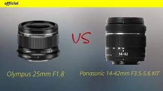 Olympus 25mm F1 8 Розпакування і порівняння c Panasonic 14 42mm F3 5 5 6