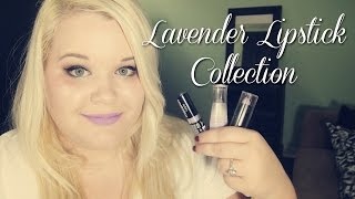 My Lavender Lipstick Collection + Swatches!