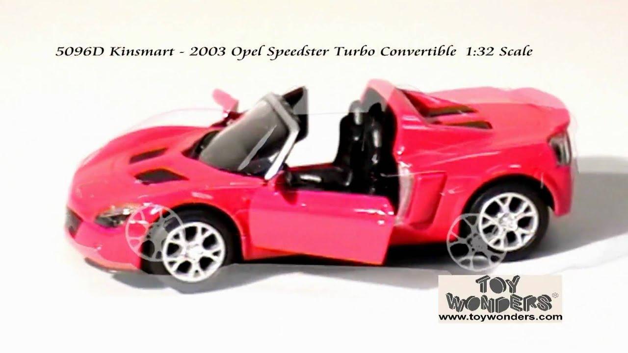 5096d Kinsmart 2003 Opel Speedster Turbo Convertible 132