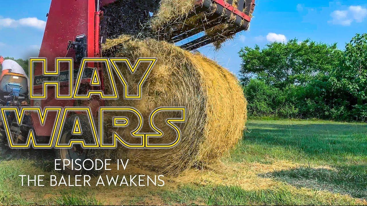 HAY WARS Episode IV - The Baler Awakens   Operating a Case 8420 Round Baler