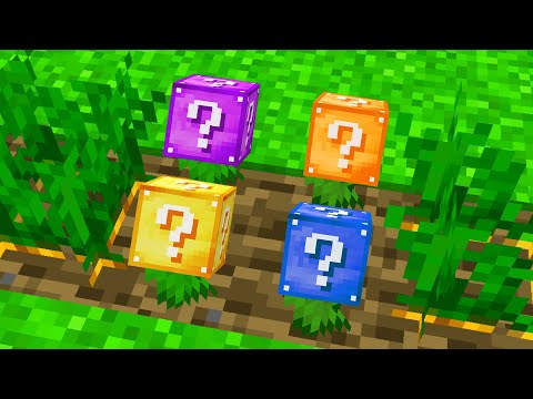 Minecraft BUT You Can GROW LUCKY BLOCKS!