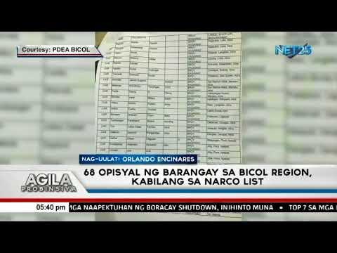 68 opisyal ng Barangay sa Bicol Region, kabilang sa Narco list