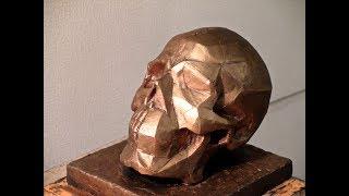 """Уроки скульптуры и рисунка: """"обрубовка"""" (экорше) черепа человека"""