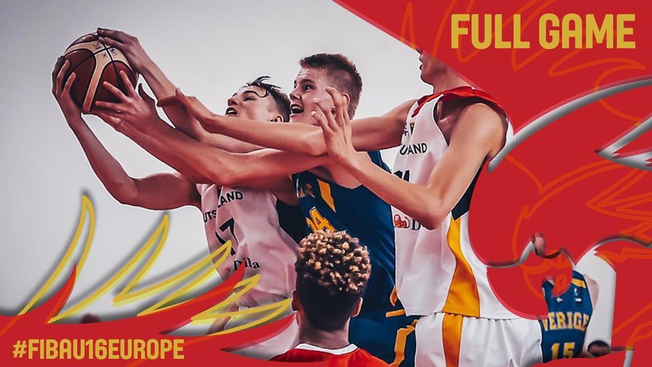 Germany v Sweden - Full Game - Classification 13-14 - FIBA U16 European Championship 2017