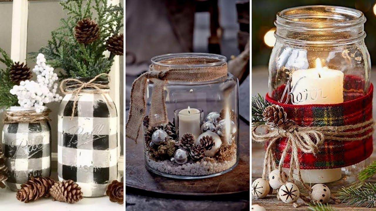 Diy Farmhouse Style Christmas Mason Jar Decor Ideas Christmas Home Decor Flamingo Mango Youtube