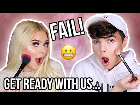 GET READY WITH US...*FAIL* w/ Tina Halada | YouTubers we HATE, Smash or Pass! | Thomas Halbert