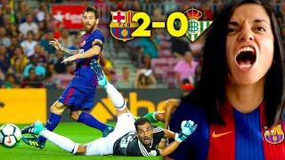 Reacción al BARCELONA vs REAL BETIS de La Liga Española (2-0) | Dúo Dinámico