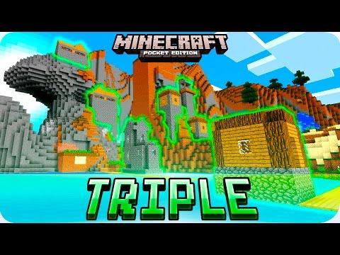 Minecraft PE Seeds - CRAZY Village, Temples, Survival Island Seed - MCPE 0.16.0 / 0.16.1