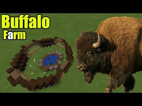 How To Make A Buffalo Farm | Minecraft PE