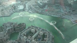 New Burj Dubai (Burj Khalifa) Lake Fountain HD-Video
