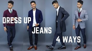 4 Ways to Dress Up Jeans (Fall Inspired Looks)