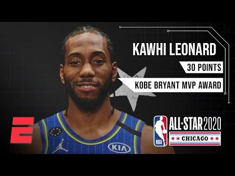 Kawhi Leonard's All-Star performance earns him Kobe Bryant MVP trophy | 2020 NBA All-Star Weekend