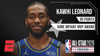 Kawhi Leonard wins the first-ever Kobe Bryant All-Star Game MVP Award | NBA All-Star Highlights
