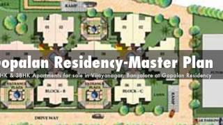 2BHK and 3BHK Apartments for sale in Vijayanagar, Bangalore at Gopalan Residency