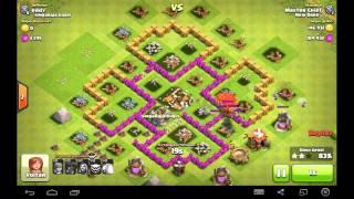 Clash of clans- ataques com balão e magos.