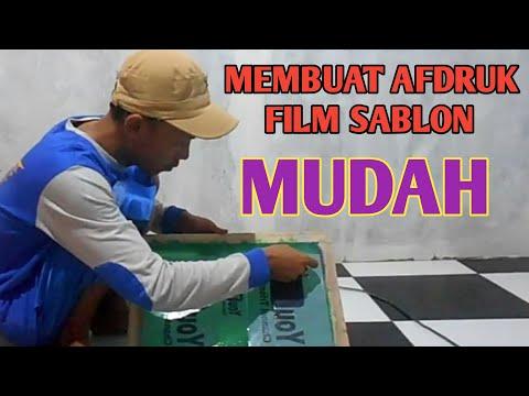 CARA MEMBUAT FILM SABLON MUDAH CEPAT