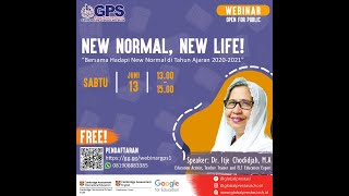 """New Normal, New Life"" with Itje Chodidjah, GPS WEBINAR ep 1"