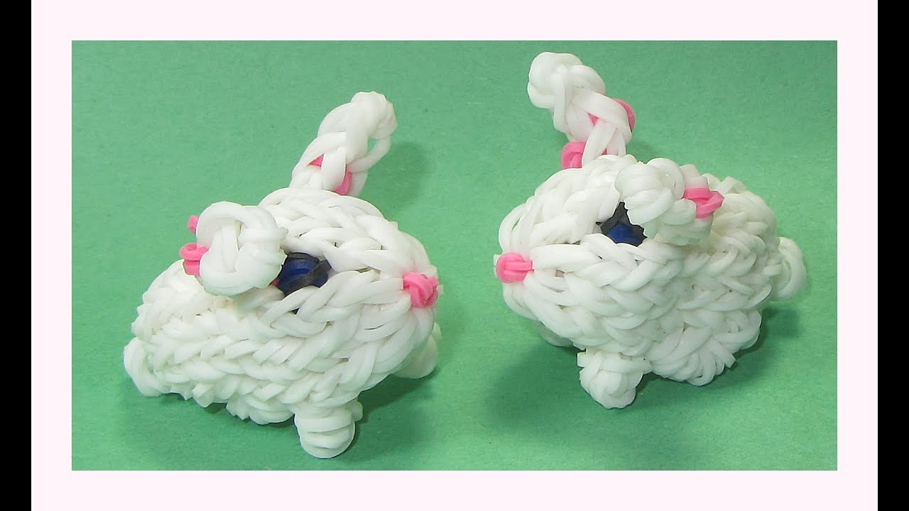 Célèbre Rainbow Loom Charms 3D Bunny (Crazy Loom / bands Fun Loom) - YouTube MJ73