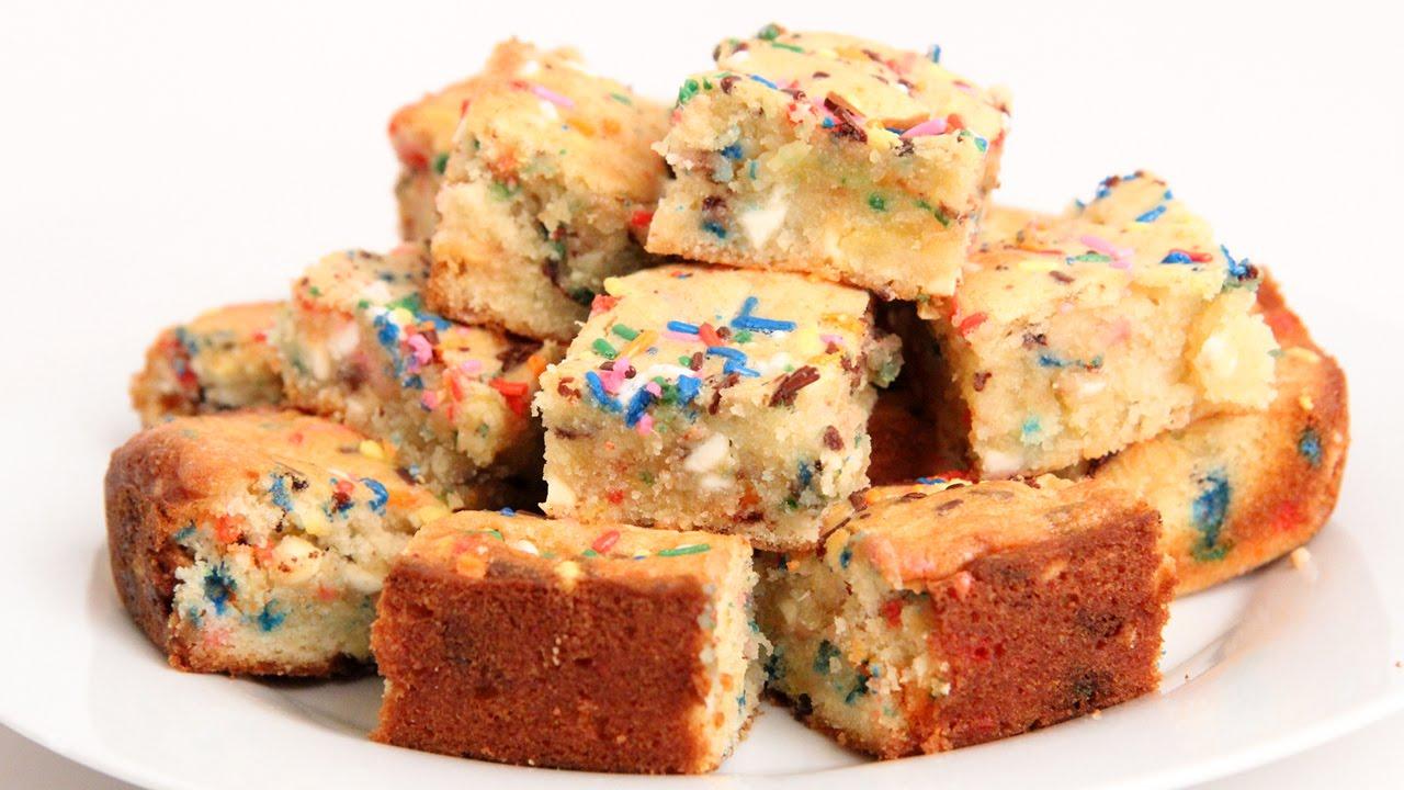 Confetti Blondies Recipe - Laura Vitale - Laura in the Kitchen ...