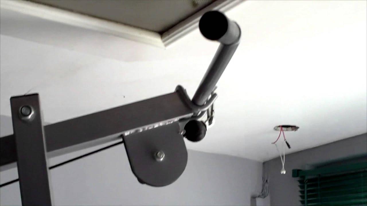 Vendo maquina de ejercicios sistema de poleas 350 youtube for Maquinas de ejercicios