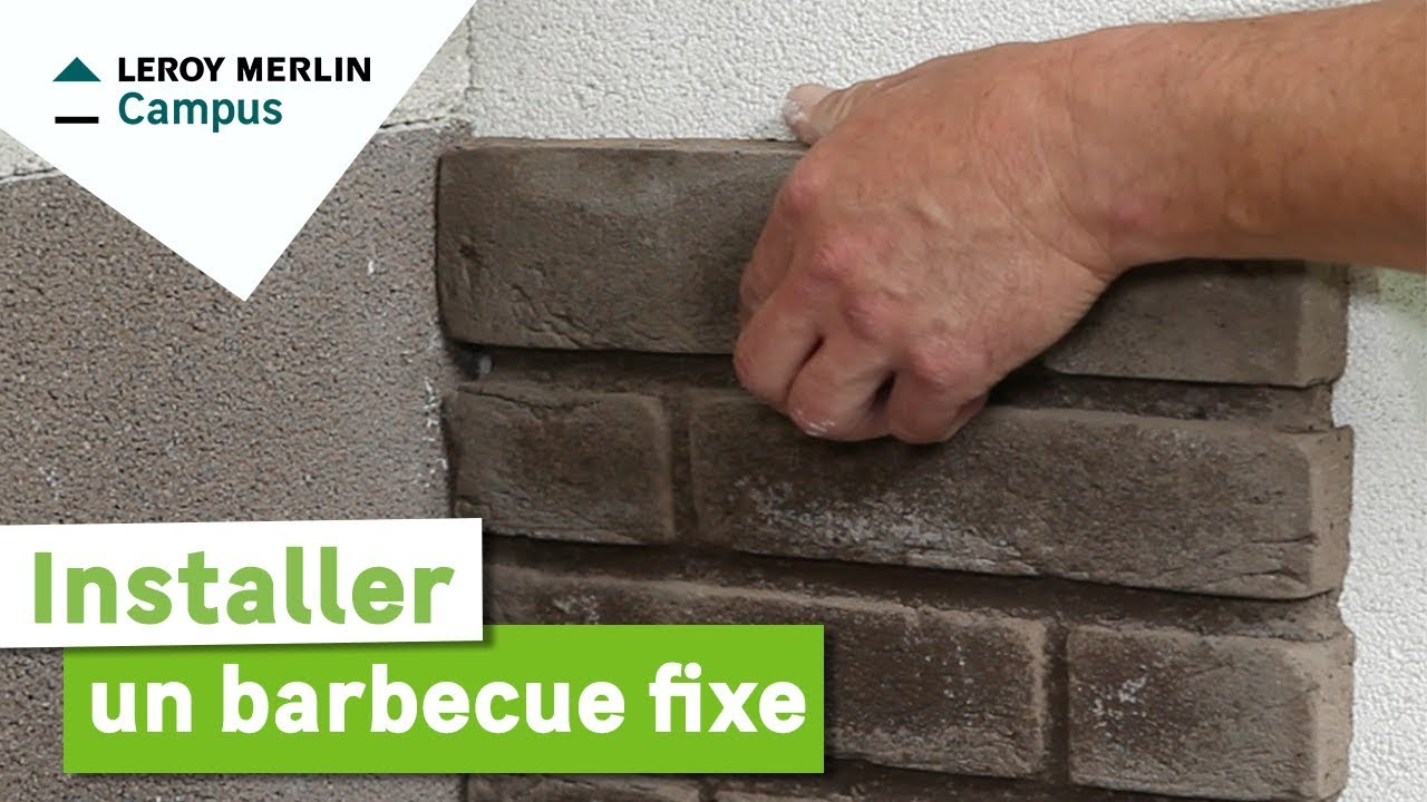 Comment Installer Un Barbecue Fixe ? Leroy Merlin   YouTube